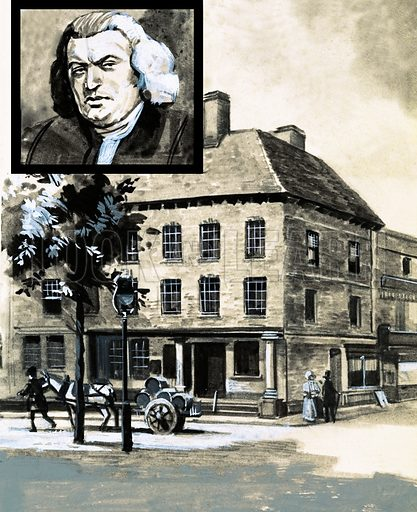 It Happened This Week. Samuel Johnson was born on 18 September 1709. Original artwork from Look and Learn no. 504 (11 September 1971).