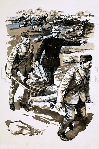 Masters of Mystery: The Immortal Detective. Sir Arthur Conan Doyle served as a physician during the Boer War. Original artwork from Look and Learn no. 556. (9 September 1972).