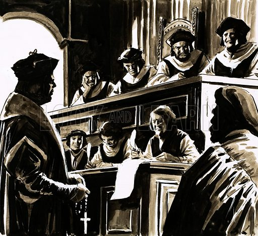 Trial of Sir Thomas More, picture, image, illustration