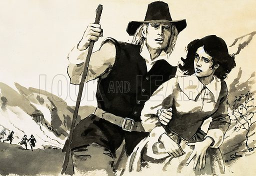 Single Success. RD Blackmore was the author of the hugely successful novel Lorna Doone; he continued to make his heroines the chief characters of his stories in all his later novels. Original artwork from Look and Learn Book 1981.