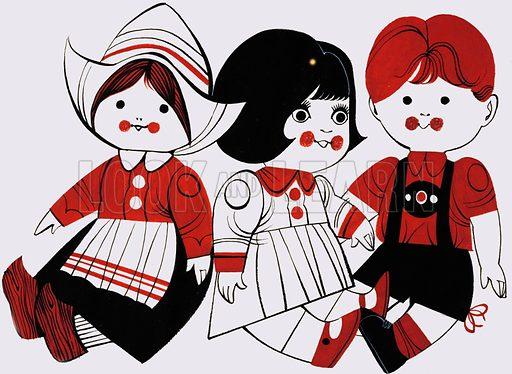 Three dolls.