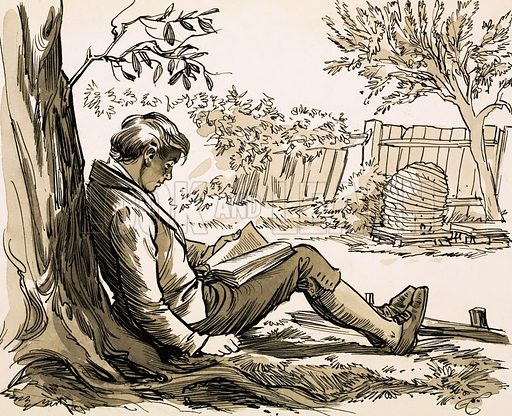 The Gentle Hunter. Naturalist David Douglas was inspired to explore by reading Robinson Crusoe. Original artwork from Look and Learn no. 540 (20 May 1972).