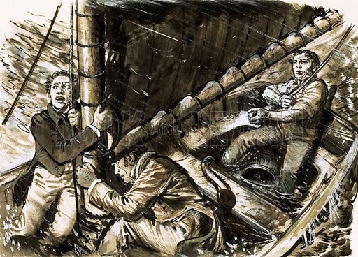 They Will Live Forever: Shelley - the Poet Lost at Sea. Percy Bysshe Shelley and his companions were drowned in a storm off the coast of Italy. His boat, the Don Juan, was never seen again. Original artwork from Look and Learn no. 473 (6 February 1971).