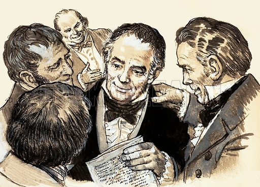 Men With a Mission: He Gave Millions Thier Freedom. William Wilberforce was congratulated by his fellow members in the House of Parliament when his Bill which would ban slavery was passed with an overwhelming majority. Original artwork from Look and Learn no. 563 (28 October 1972).