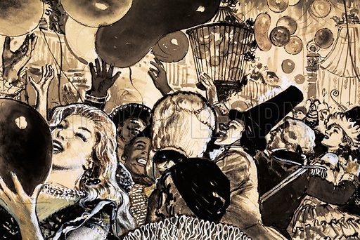 Festivals and Customs: Fun in the Sun. The Carnival at Rio de Janeiro. Original artwork from Look and Learn no. 321 (9 March 1968).