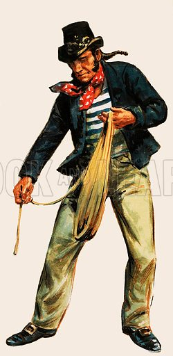 Sailor with a rope.
