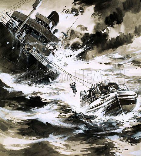 Rescue at sea.