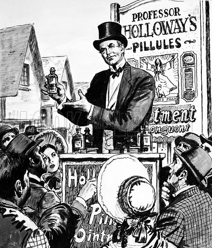 Holloway's remedies, picture, image, illustration