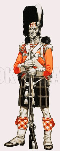 92nd. Foot Private 1840.