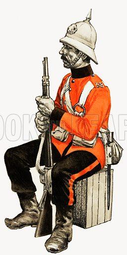58th Foot 1880 (Rutlandshire) Private.