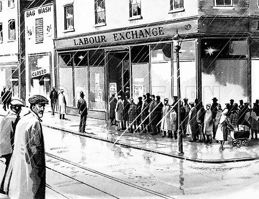 Labour Exchange, picture, image, illustration