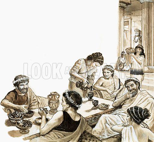 Romans feasting.