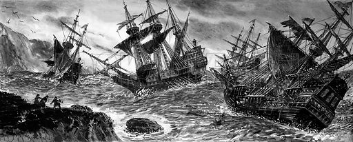 Wrecks of the Spanish Armada.