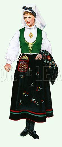 Girl in native costume.