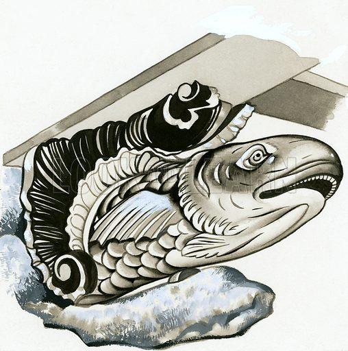 Fish gargoyle.