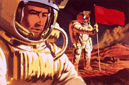Unidentified cosmonauts.