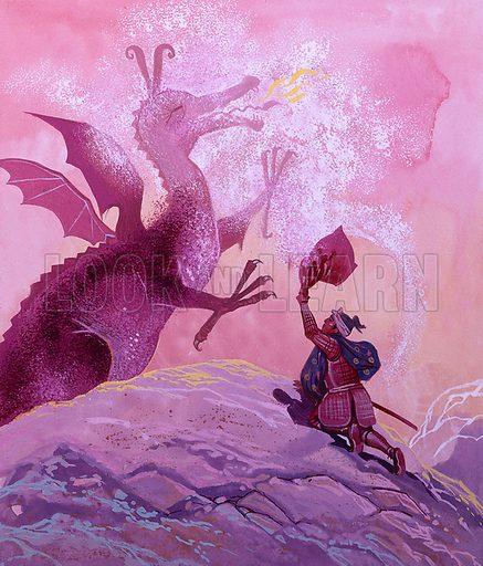 Dragon. Original artwork for Once Upon a Time.
