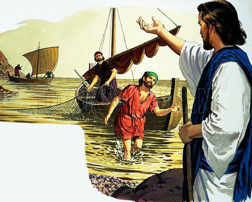 Jesus Christ with fisherman.