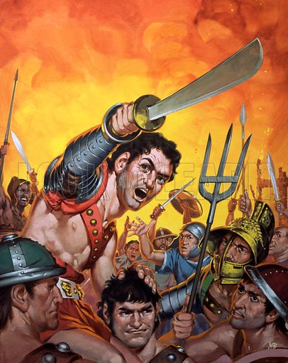 Spartacus and the revolt of the slaves.