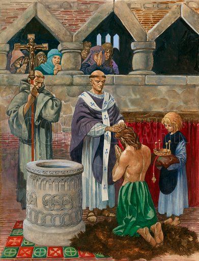 St Augustine baptising King Ethelbert.