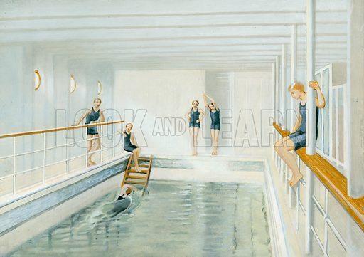Swimming pool on the Titanic