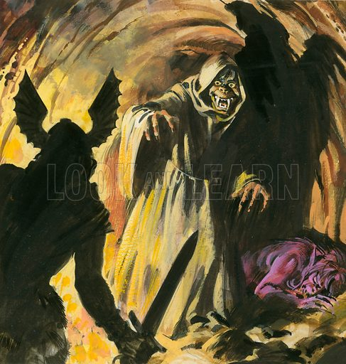 Scene from Beowulf