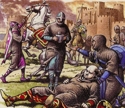 William the Conqueror injured at Mantes-la-Joilie in 1087 stock image |  Look and Learn