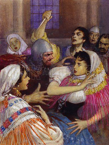 Sicilian Vespers, picture, image, illustration