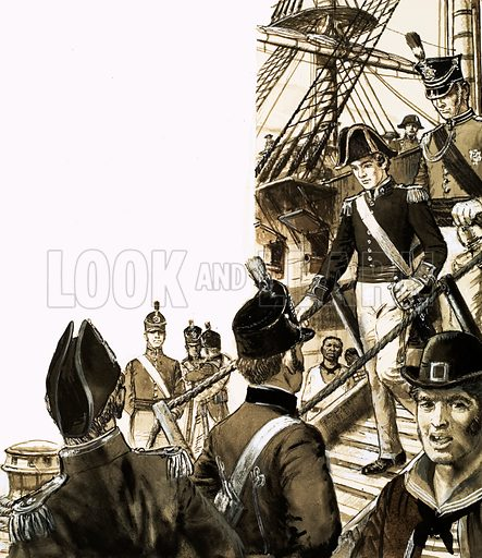 Dr James Barry disembarks at Cape Town. A skilful surgeon, who served as Regimental Surgeon in Cape Town, James Barry was educated at Edinburgh and Guy's Hospital. Later served as Inspector General of Corfu. It was only when Dr Barry died that it was revealed that 'he' was a woman. From Look and Learn 462 (21 November 1970).