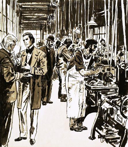 Josiah Mason and his factory making pen nibs - Look and