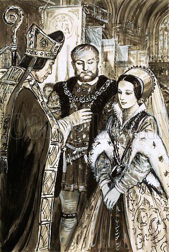 Marriage of Henry VIII and Anne Boleyn.