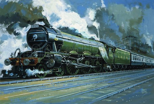 The Flying Scotsman, picture, image, illustration