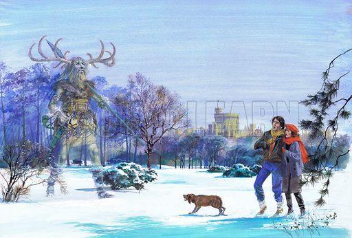 Herne the Hunter appearing in Windsor Great Park