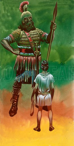 David and Goliath.