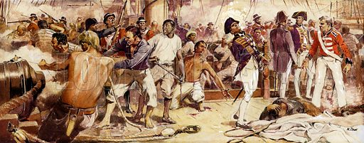Nelson shot at the Battle of Trafalgar