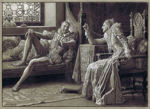 Queen Elizabeth I and the Earl of Leicester
