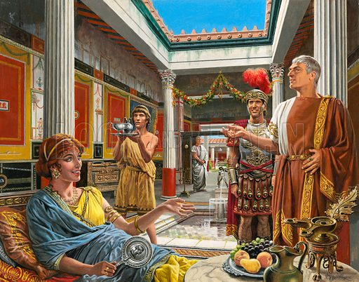 Life in the Roman town of Pompeii.