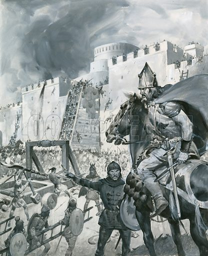 Siege of Kaffa, picture, image, illustration