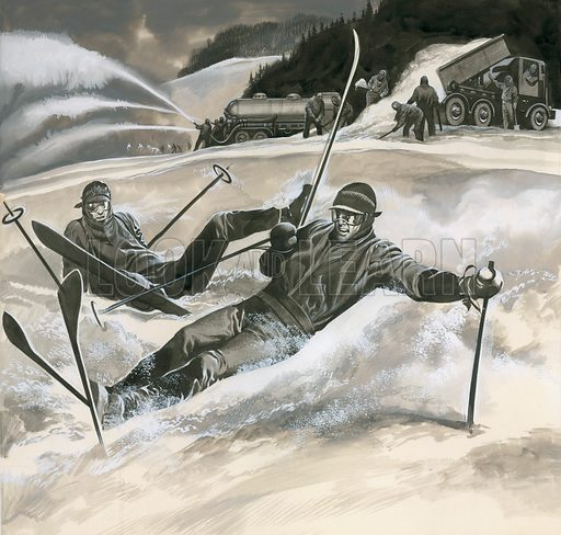 Skiing,  picture, image, illustration