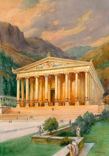 Temple of Diana, picture, image, illustration