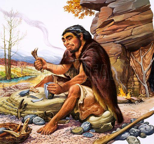 Neanderthal tool maker.