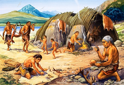 neanderthals, picture, image, illustration
