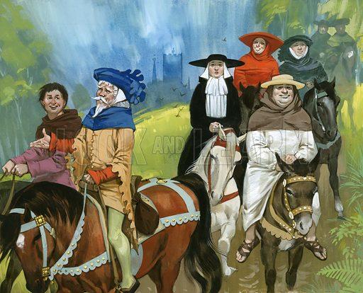 The Canterbury Pilgrims.
