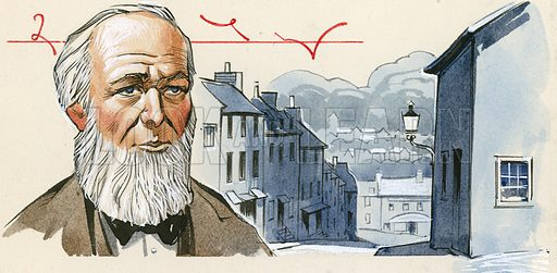 Isaac Pitman who opened a school in Wotton Edge in 1837 to teach his newly-invented shorthand.