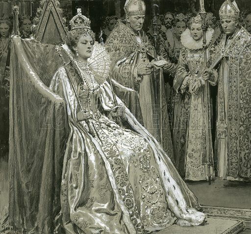 Coronation of Queen Elizabeth I.