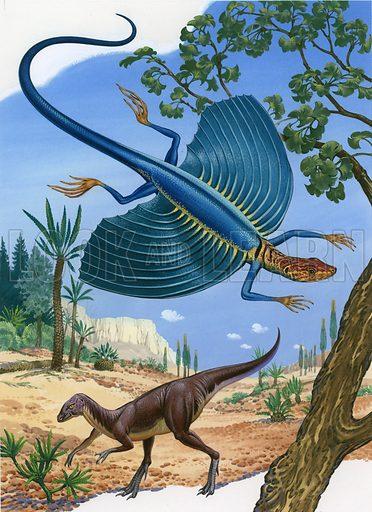 Kuehneosaur and fabrosaurus