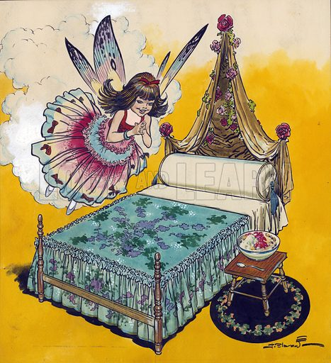 Bed and fairy.