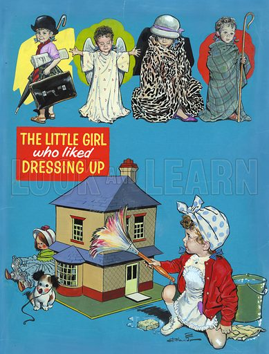 The little girl who liked dressing up.