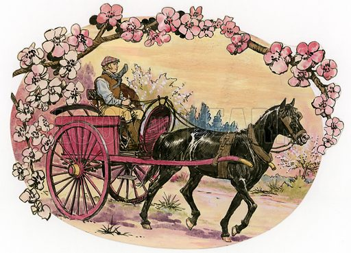 Black Beauty. Illustration for magazine serial based on the story by Anna Sewell, first published in 1877.