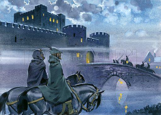 Robin Hood outside Nottingham Castle